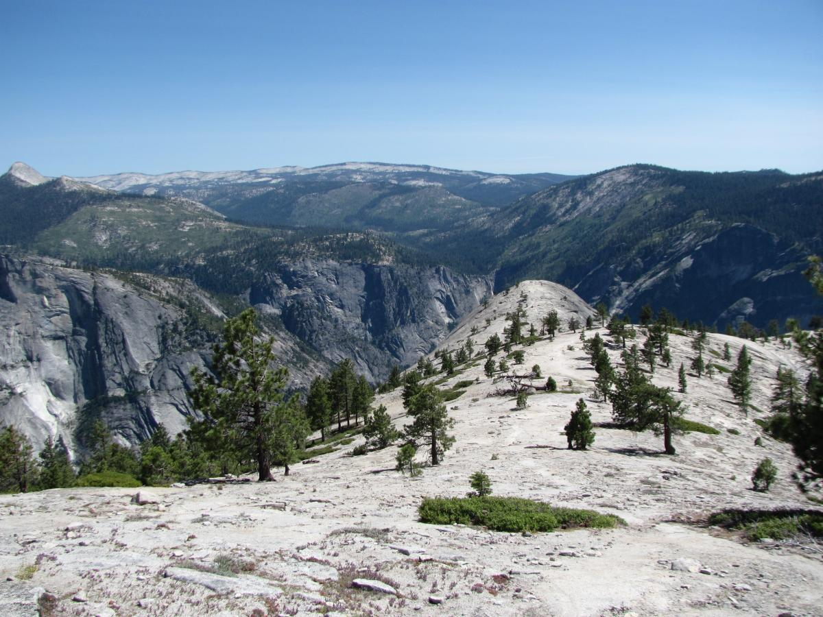 North Dome with views of Yosemite Valley